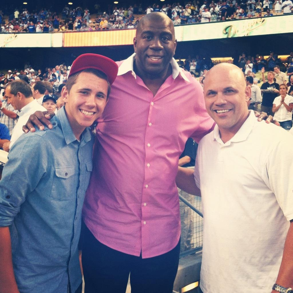 Austin Leyritz, Magic Johnson, Jim Leyritz - Dodger Stadium