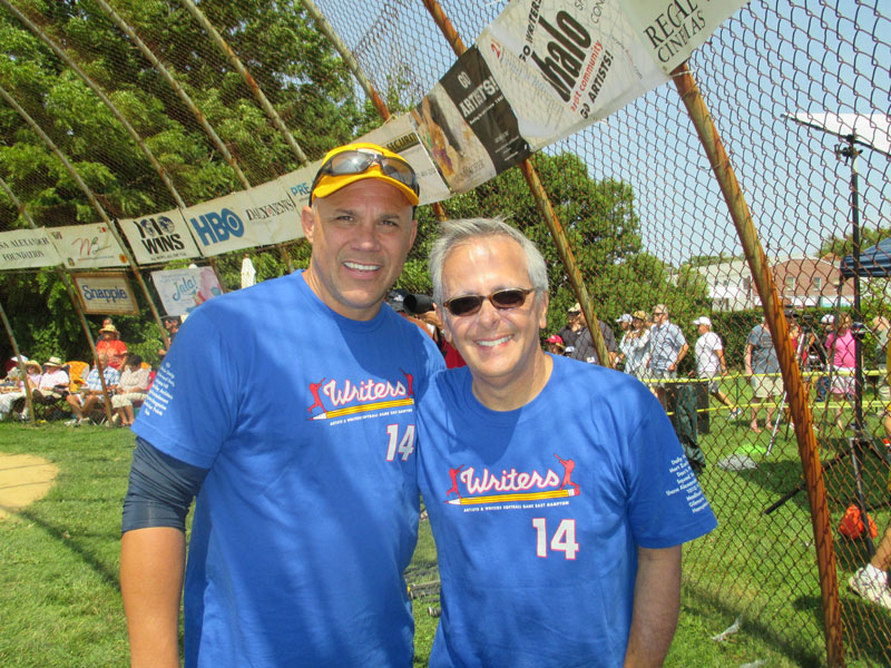 Jim Leyritz, Mike Lupica - Artists vs. Writers Celebrity Softball Game