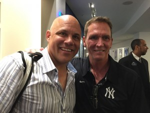 Jim Leyritz, David Cone - Yankee Stadium
