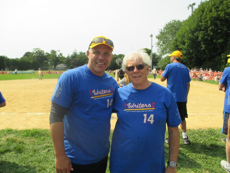Jim Leyritz, Carl Bernstein - Artists vs Writers Charity Softball Game